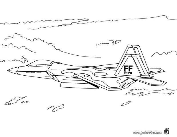 Free coloring and drawings FF Fighter Plane Coloring page