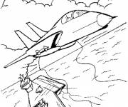 Coloring pages Fighter plane to download