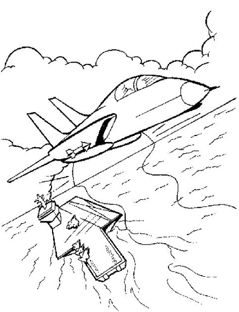 Free coloring and drawings Fighter plane to download Coloring page