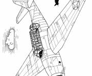 Coloring pages Fighter planes on mission