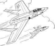 Free coloring and drawings Hunting Jet Coloring page