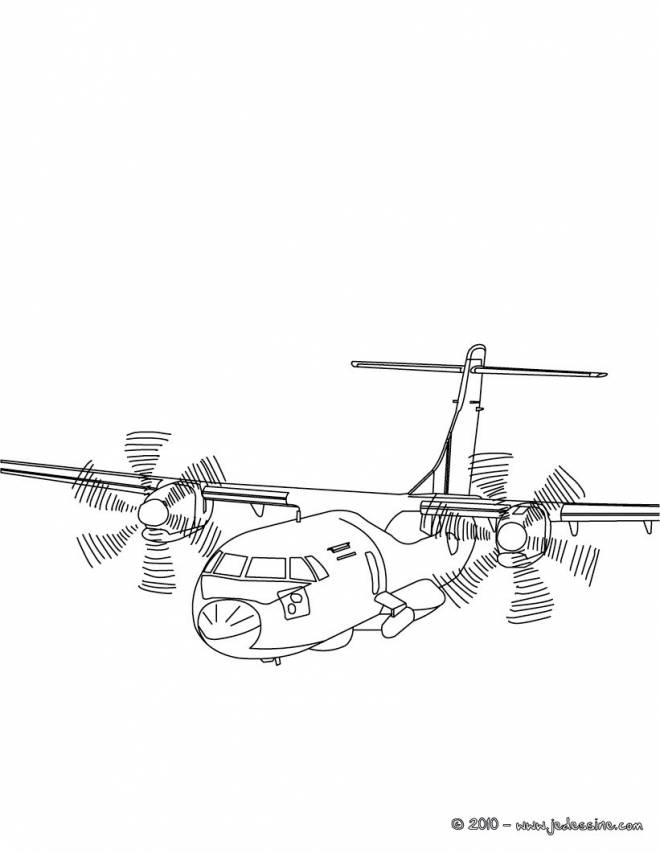 Free coloring and drawings Maternal military aircraft Coloring page