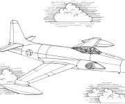 Coloring pages Powerful fighter plane