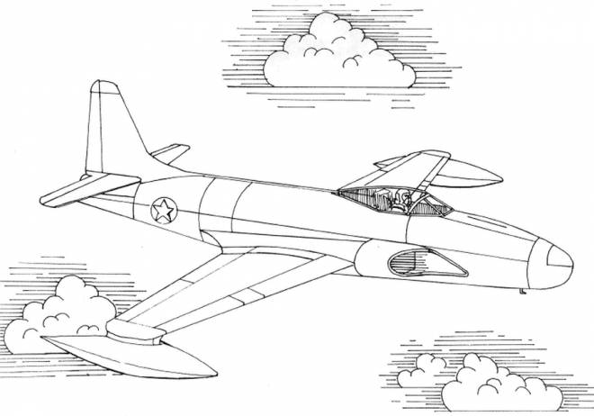 Free coloring and drawings Powerful fighter plane Coloring page