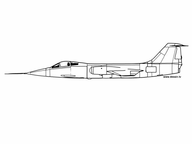 Free coloring and drawings Russian Fighter Plane Coloring page