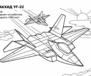 Coloring pages Russian warplane on mission
