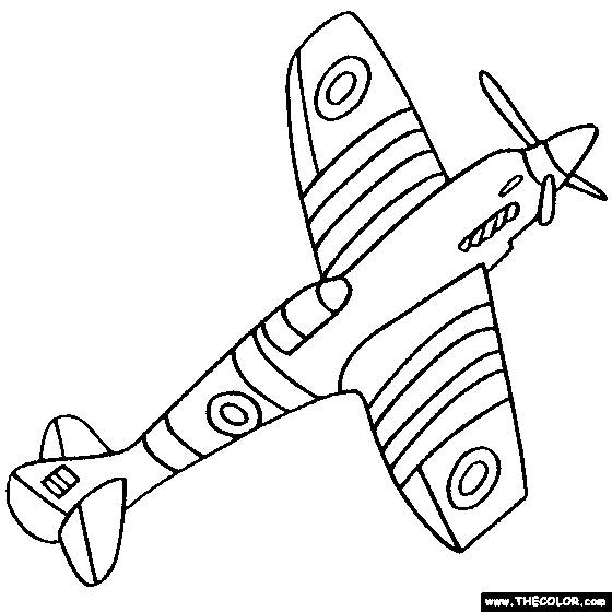 Free coloring and drawings Simplified Warplane Coloring page