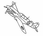 Coloring pages Single Fighter Plane