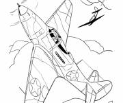 Coloring pages Two war planes to cut out