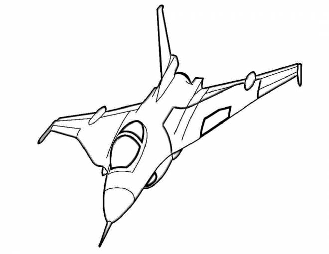 Free coloring and drawings Vector War Plane Coloring page