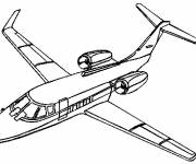 Free coloring and drawings VIP plane Coloring page