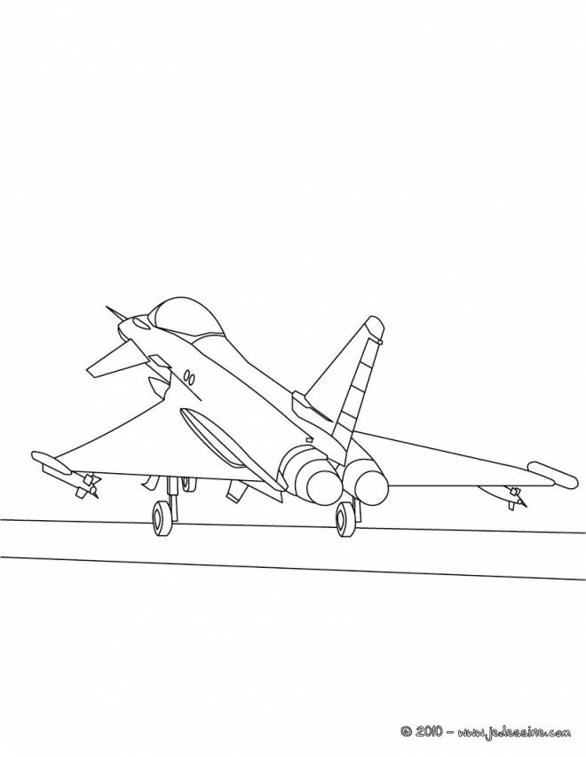 Free coloring and drawings War plane takeoff Coloring page