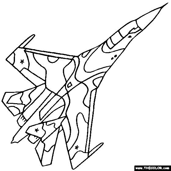 Free coloring and drawings Warplane F5 Coloring page