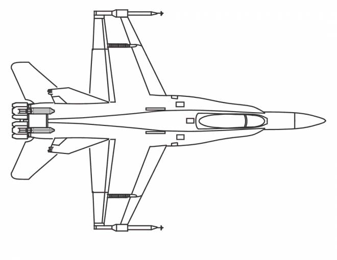 Free coloring and drawings Warplane front view Coloring page