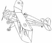 Coloring pages World War plane to decorate