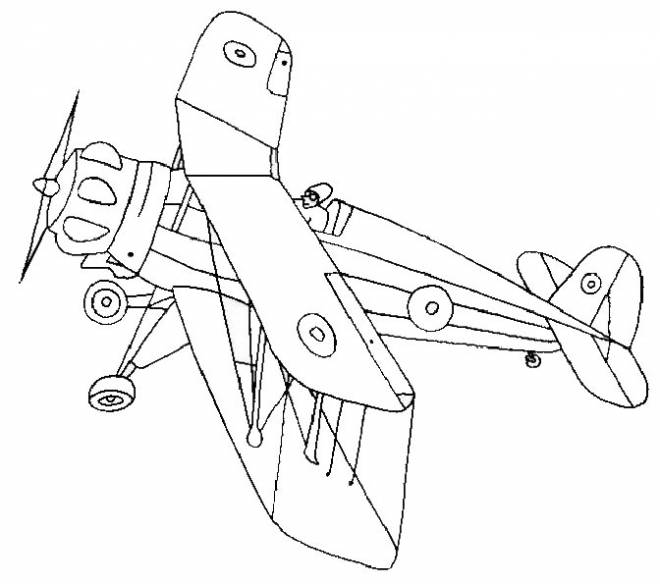 Free coloring and drawings World War plane to decorate Coloring page