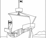 Coloring pages A military sailboat