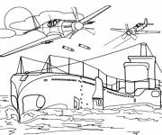 Coloring pages A WWII submarine