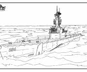 Coloring pages American warship