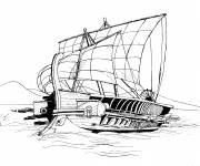 Free coloring and drawings Antiquity Warship Coloring page