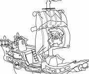 Coloring pages Cartoon pirate ship