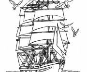 Coloring pages Children's War Ship
