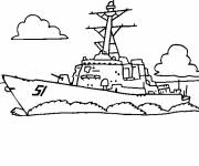 Coloring pages Easy Warship to download