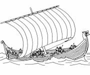 Coloring pages Greek warship
