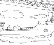 Coloring pages Military boat to be colored
