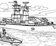 Free coloring and drawings Military ship Coloring page