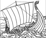 Free coloring and drawings Old warship Coloring page