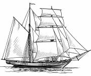 Free coloring and drawings Pirate Ship Online Coloring page