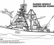 Coloring pages Rommel Warship