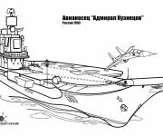Coloring pages Russian warship