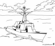 Free coloring and drawings Vector warship Coloring page