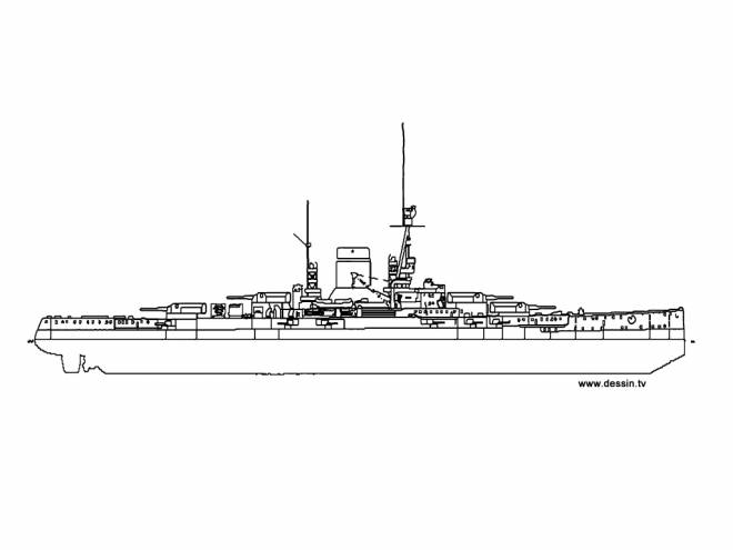 Free coloring and drawings Warship Illustration Coloring page